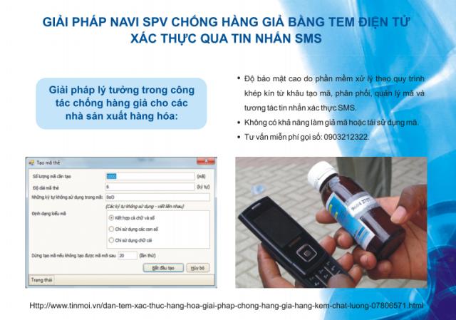Giải pháp chống hàng giả bằng công nghệ tem điện tử SMS với quy trình quản lý khép kín từ...
